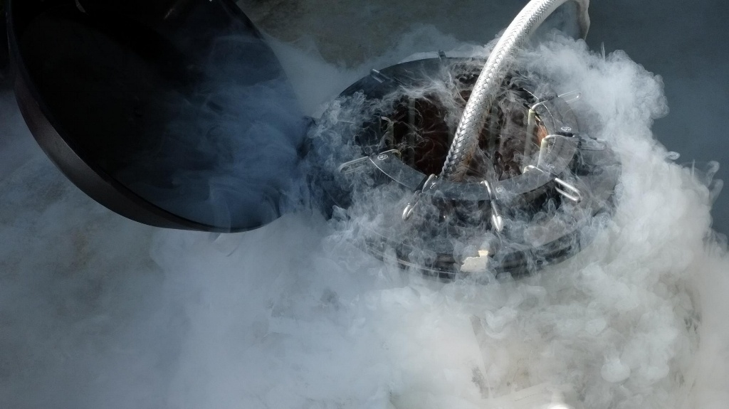 Cryogenic Storage - Cryogenic container with in action