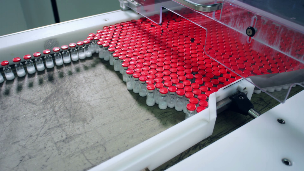 Pharmaceutical Manufacturing - medication being producted on a line