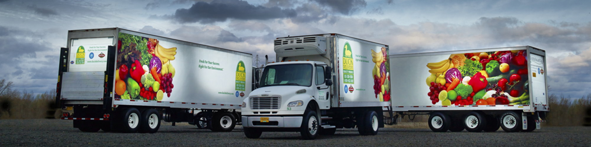 Food Transportation - Refrigerated trucks meant to carry food