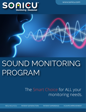 Sonicu sound monitoring for hospital noise reduction.
