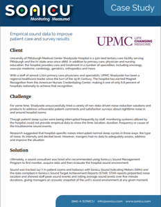 UPMC Case Study Preview