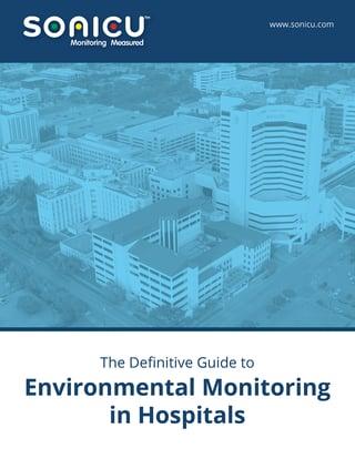 Sonicu Enterprise E-book - The Definitive Guide to Environmental Monitoring in Hospitals